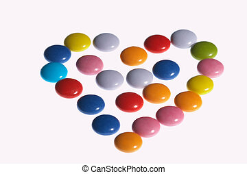 colored heart - färbiges Herzcolored heart - f䲢iges Herz...