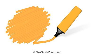 colored highlighter with marking - orange colored ...