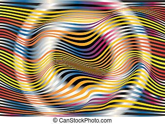 Colored horizontal stripes