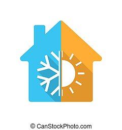 Colored house icon. Vector illustration