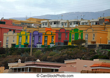 Colored houses in Tenerife