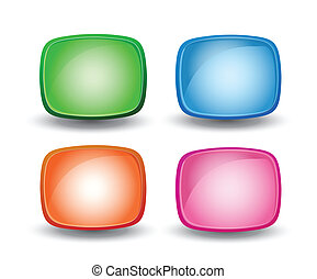 Colored icons - Set of colored icons on a white background