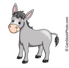 donkey - colored illustration of a donkey