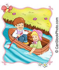 trip in boat
