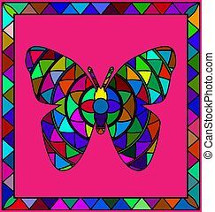 colored image of butterfly