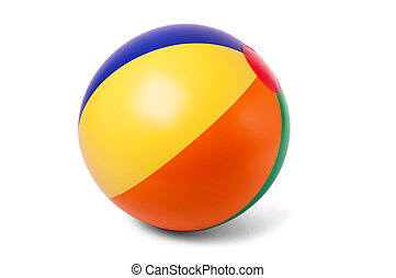 Colored inflatable beach ball - Bright inflatable ball...