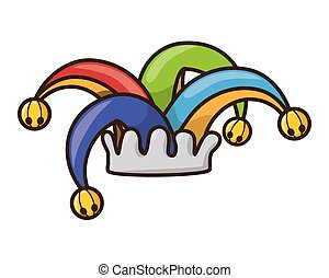 colored jester hat