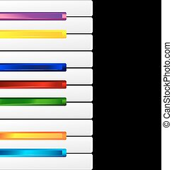 colored keys