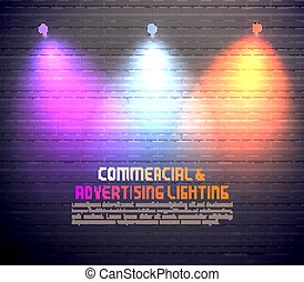 Colored Light Effects Poster - Colored light effects for...