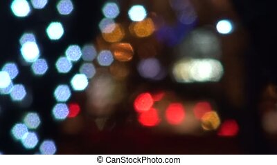 Colored lights abstract background city