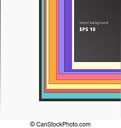 Colored lines element for your design