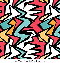 Colored lines geometric pattern