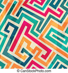 colored lines seamless pattern with grunge effect