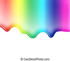 Colored liquid - Illustration of liquid or paint colors