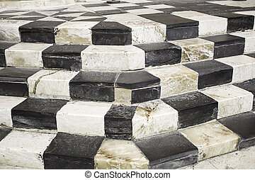 Colored marble stairs