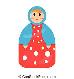 Colored matrioshka toy icon. Vector illustration design