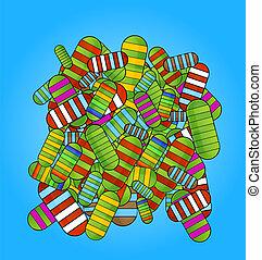 colored medic pills vitamins set