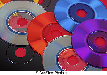 Colored mini cd\\\'s & dvd\\\'s