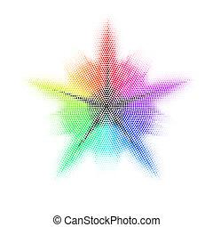 colored., mosaic., différent