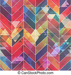 Colored mosaic seamless pattern.
