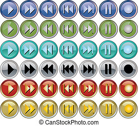 Colored music buttons