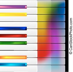 colored music keys