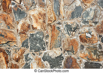 Colored natural stone wall background