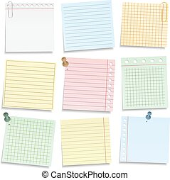 Colored Notebook Paper