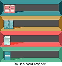 colored office elements for your design