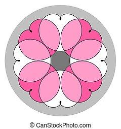 Colored ornament. Mandala. Spirograph