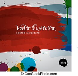 Colored  paintbrush vector illustration