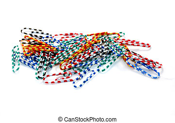 Colored paperclips