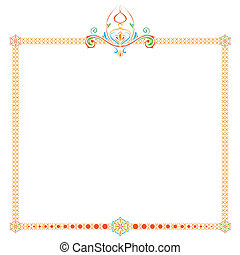 frame with an ornament