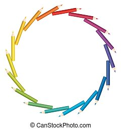 Colored Pencils Circle Disk Saw Pat - Colored pencils...