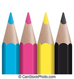 colored pencils CMYK