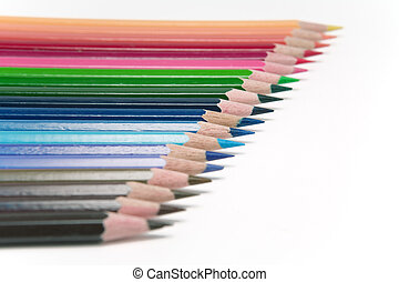 Colored Pencils - Colored pencils in a arrangement
