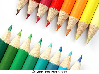 Colored Pencils - Colored pencils macro