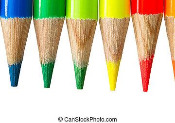 Colored pencils frame