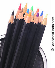 Colored Pencils in Can 2