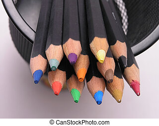 Colored Pencils in Can 3