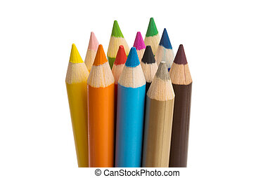 colored pencils isolated