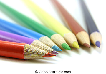 Colored pencils lines