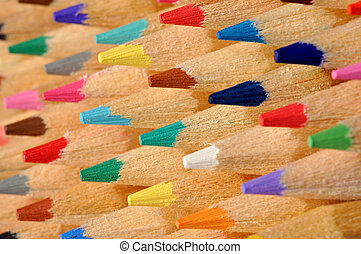 Colored Pencils Macro - Colored pencils macro, can be used...