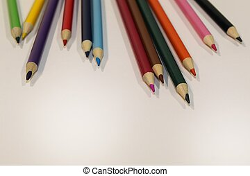 Colored Pencils Scattered Top