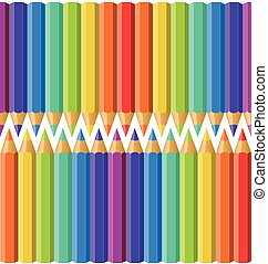 Colored pencils seamless pattern