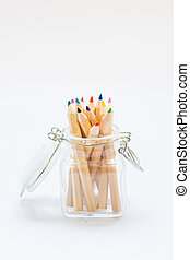 colored pens white background