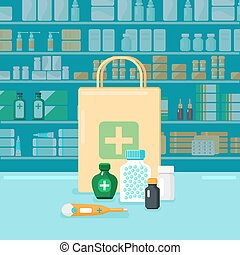 Colored Pharmacy Concept
