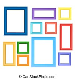 Colored photo frames - Multi colored photo frames for...