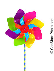 Colored pinwheel isolated on white background