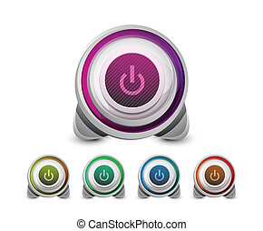 Colored power button